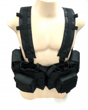 Colete Airsoft PaintBall Tatico Chest Completo