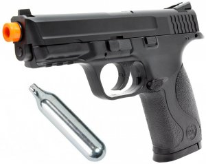 Pistola Airsoft S&W MP40 Slide Metal 6,0mm - CO2